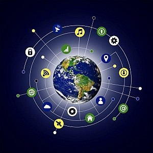 Internet of Things obraz kuli ziemskiej