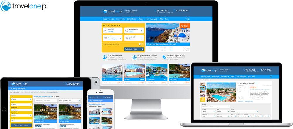 Projekt serwisu Travelone.pl